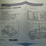 gi joe vs cobra instructions blue prints 2002 SMOKE SCREEN TRANSPORT